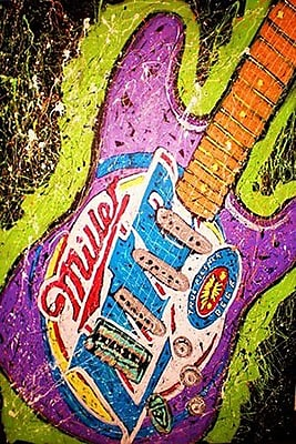 iCanvas Lambert Guitar Miller Painting Print on Wrapped Canvas; 40'' H x 26'' W x 0.75'' D