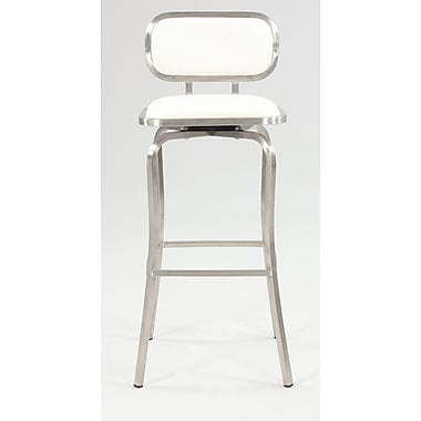 Chintaly Modern 30.31'' Bar Stool; White