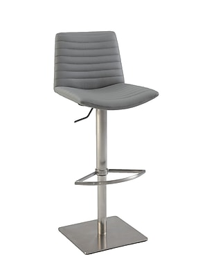 Chintaly Adjustable Height Bar Stool; Grey WYF078277068137
