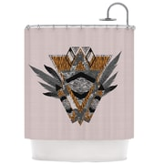 KESS InHouse Indian Feather Shower Curtain