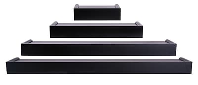 Nexxt FN07780-7INT Set of 4 Black Wooden Ledge