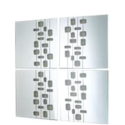 """Nexxt FN16776-8INT 14"""" x 14"""" Square Frameless Wall Mirror, Set of 4"""