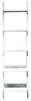 Nexxt FN16950-2 Hadfield 5-Tier Leaning Wall Shelf, White