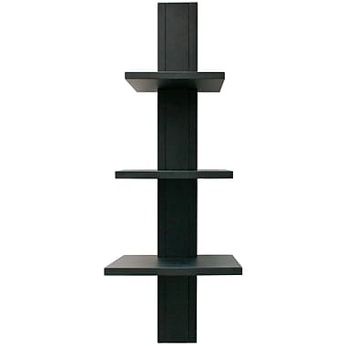 Nexxt Alton FN17587-9 Black 3 Tier Wall Shelf