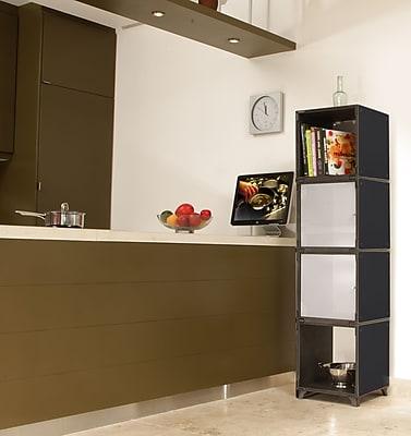 Yubecube YKA7000B Storage Cabinet, Black