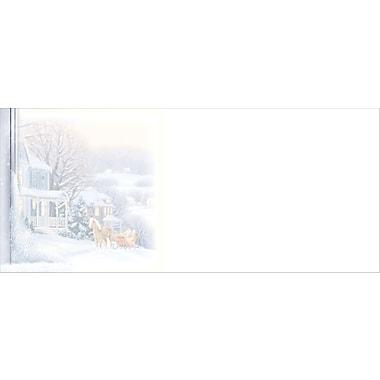 Enveloppes à motif de paysage hivernal II, taille nº 10, bilingue, paq./40