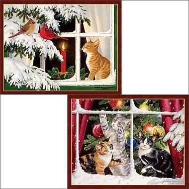 LANG – Cartes de Noël, Kitten Christmas (anglais), 2 motifs, 18/boîte