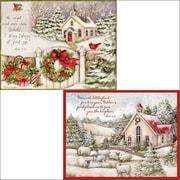 LANG – Cartes de Noël, Little Church (anglais), 2 motifs, 18/boîte