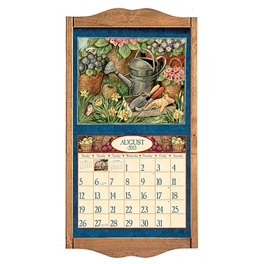 LANG Wooden Calendar Frame, Honey Maple