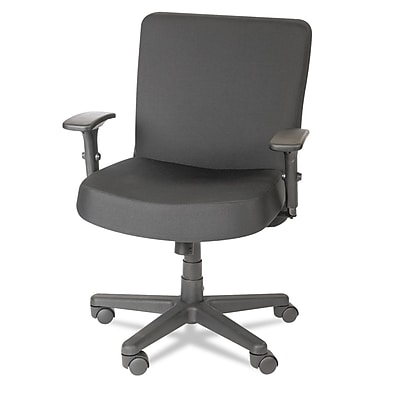 GIS Global Truform TS Big & Tall 24-Hour Multi-Tilter Mid-Back Chair, Fabric, Ebony 936298