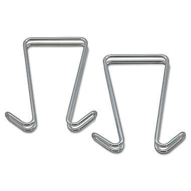 Alera® Best Double Sided Partition Garment Hook, Silver