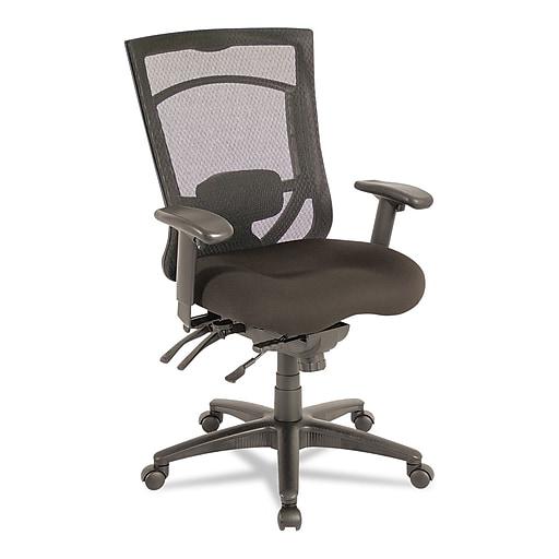 alera ex series mesh multifunction high back chair black staples