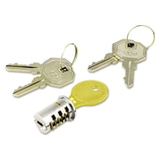 Alera® Key-Alike Lock Core Set, Brushed Chrome
