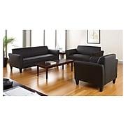 Alera® Reception Lounge Furniture, 3-Cushion Sofa, 77w x 31-1/2d x 32h, Black