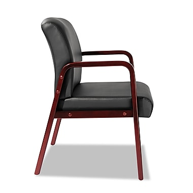 Alera® Reception Lounge Series Guest Chair, Cherry/Black