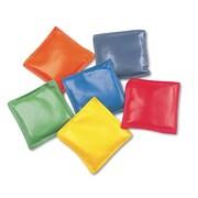 "Champion Sports 4"" x 4"" Bean Bag Set, Assorted, 6/Set"