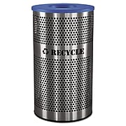 """Ex-Cell Stainless Steel Recycle Receptacle, 33 Gallon, Stainless Steel, 32""""H x 18""""W x 18""""D"""
