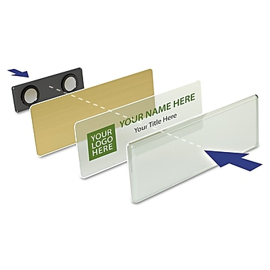 The Mighty Badge Name Tag Refill Kit, Gold, Inkjet Inserts
