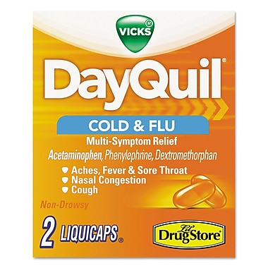 DayQuil Daytime Cold & Flu Caplet, 20/Pack