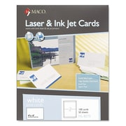 "Maco® 4"" x 6"" Unruled Index Cards, White, 100/Box"