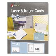 """Maco® 3"""" x 5"""" Unruled Index Cards, White, 150/Box"""