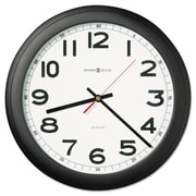 "Howard Miller® 15 3/4"" Norcross Auto Daylight Savings Wall Clock, Black"