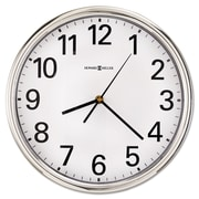 "Howard Miller® 12"" Hamilton Wall Clock, Silver"