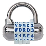 Master Lock® Password Plus Combination Lock, Silver