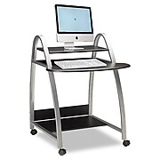 """Mayline® 37"""" x 31 1/2"""" Eastwinds Arch Laminated Computer Cart, Anthracite"""