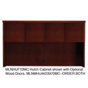 "Mayline® Mira 39"" x 72"" Veneer Assembled Hutch Frame, Medium Cherry"