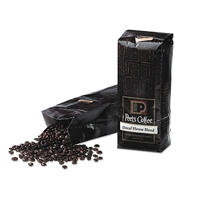 Image of Peet's Coffee Decaffeinated - House Blend Whole Bean Coffee Bag, 1 lbs.