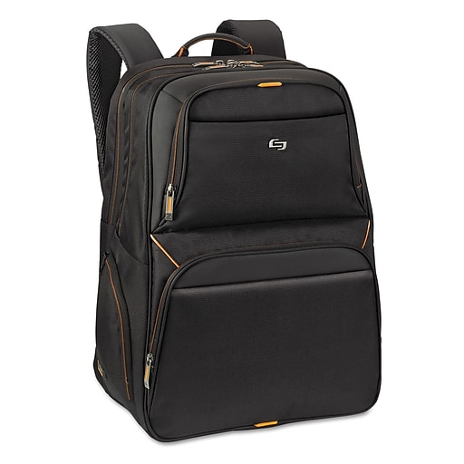 "DO NOT USE - SKU nameSolo Urban Backpack For 17.3"" Notebook, Black/Orange"