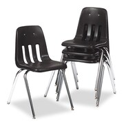 Virco® 9000 Series Classroom Stack Chair, Black/Chrome