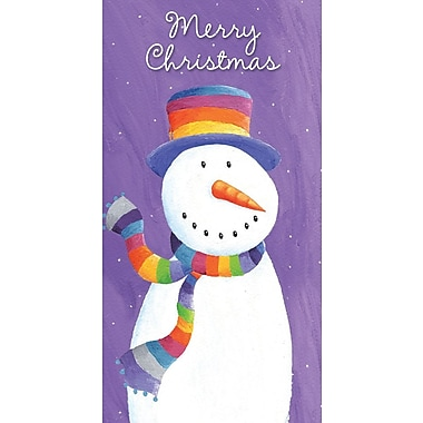 Money Holders, Merry Christmas Snowman , 18/Pack