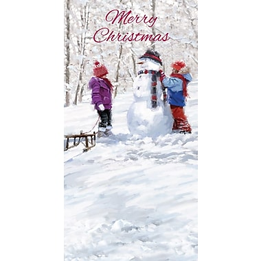 Money Holders, Merry Christmas Snowman Fun, 18/Pack