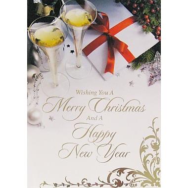 Cartes de Noël et du Nouvel An, Joyeux Noël et Bonne Année, 18/paquet