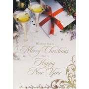 Christmas & New Year Cards, Merry Christmas & a Happy New Year, 18/Pack