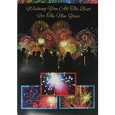 Cartes du Nouvel An, feux d'artifice, 18/paquet