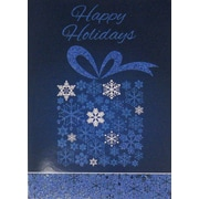 Christmas Cards, Happy Holidays Present, 18/Pack