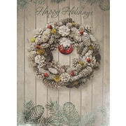 Christmas Cards, Happy Holidays Wreath, 18/Pack