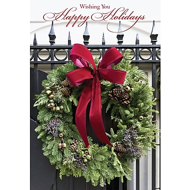 Christmas Cards, Wishing You Happy Holidays, 18/Pack