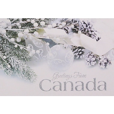 Christmas Cards, Greetings from Canada, 12/Pack