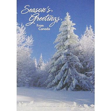 Cartes de Noël, Season's Greetings from Canada (anglais), paq./12