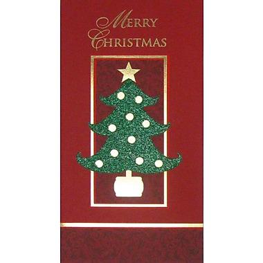 Carte porte-billet, « Merry Christmas », 12/paquet