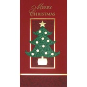 Carte porte-billet, « Merry Christmas », 12/paquet