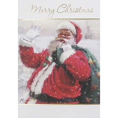 Christmas Cards, Santa, 12/Pack