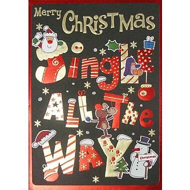 Cartes de Noël, Jingle All the Way (anglais), paq./12