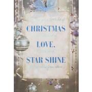 Cartes de Noël, Christmas Love (anglais), paq./12