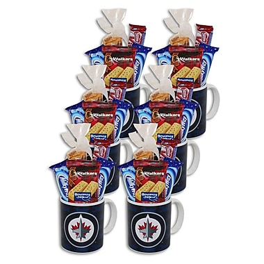 Tasses de la LNH de 8 oz, Jets de Winnipeg, 6/pqt