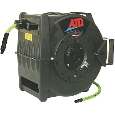 ATD® Levelwind™ Retractable Air Hose Reel, 3/8